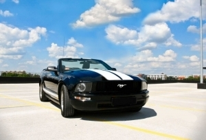 Auto do ślubu - Mustang kabriolet!